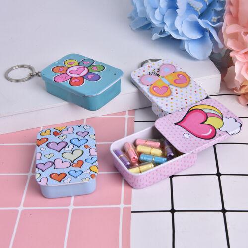 Rectangle Empty Tinplate Tin Tea Can Storage Box Organizer Jewelry Candy Case CJ