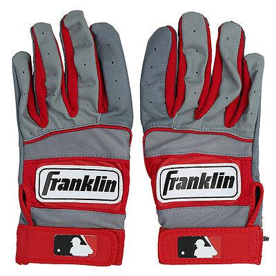 Franklin NEO 100 Adult Baseball / Softball Batting Gloves Red - S, M, L, XL