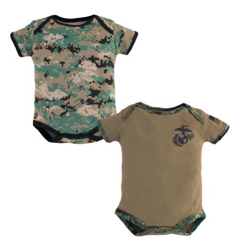 2 Pack Marine Woodland//Coyote Infant Bodysuit