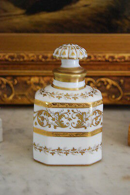 Glass Perfume Bottles Aggressive Magnificent Tallec A Paris France White & Gold Empire Style Perfume Bottle