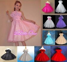 Floral Pattern Party Wedding Flower Girl Dress Formal Occasion Size 4-9 FG376