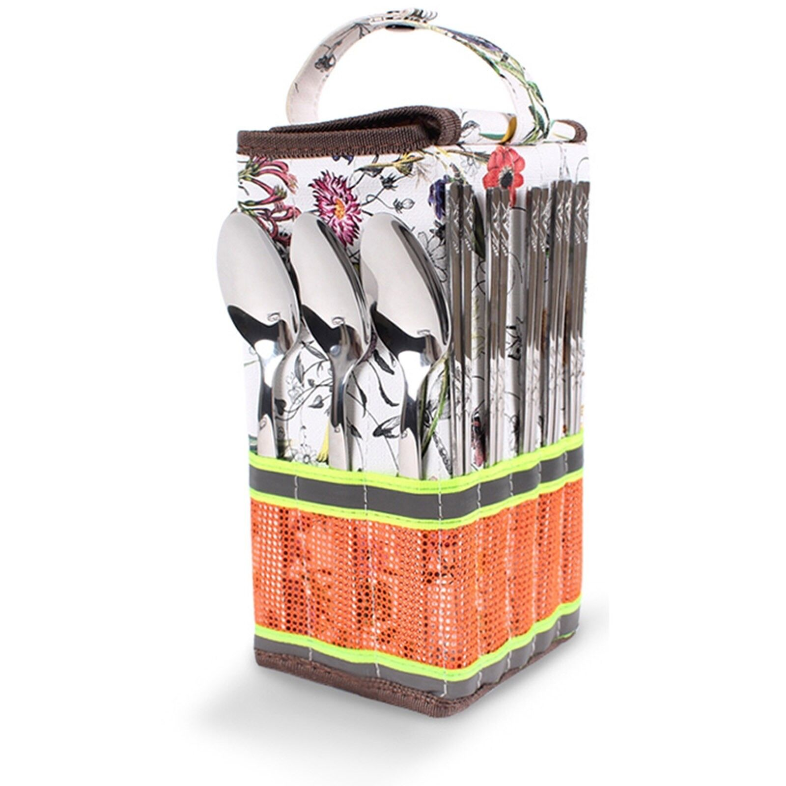 Camping Stainless steel Flower Cutlery 15P SET Camp fishing hiking home cooking