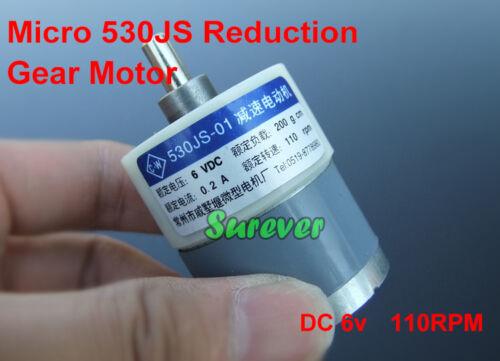 DC 5V 6V 110RPM Slow Speed Micro 530 Gear Motor DC Reduction Gearmotor DIY Parts