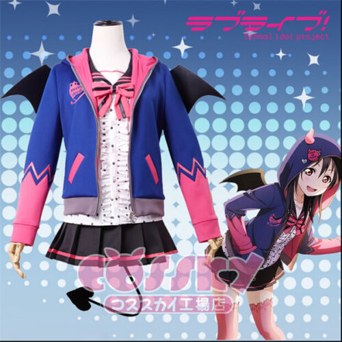 LoveLive Nico Yazawa Devil Unawaken  Cosplay Costume Uniform Full Set Hallowmas