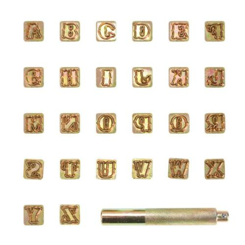 Carbon Steel Stamps Letter Alphabet Numbers Set Punch Steel Metal Leather Tool