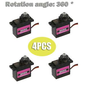 4pcs-mg90s-micro-Metal-Gear-9g-servo-para-RC-avion-helicoptero-Boot-auto-360