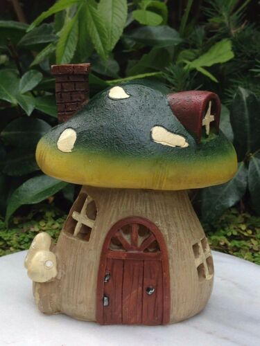 Miniature FAIRY GARDEN House ~ Small Light Up Mushroom Cottage House ~ NEW