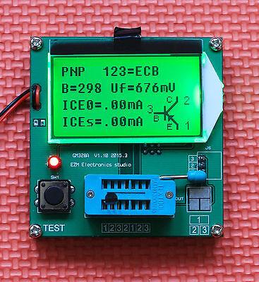 2017 12864 LCD Transistor Tester meter Diode Triode Capacitance LCR ESR Meter