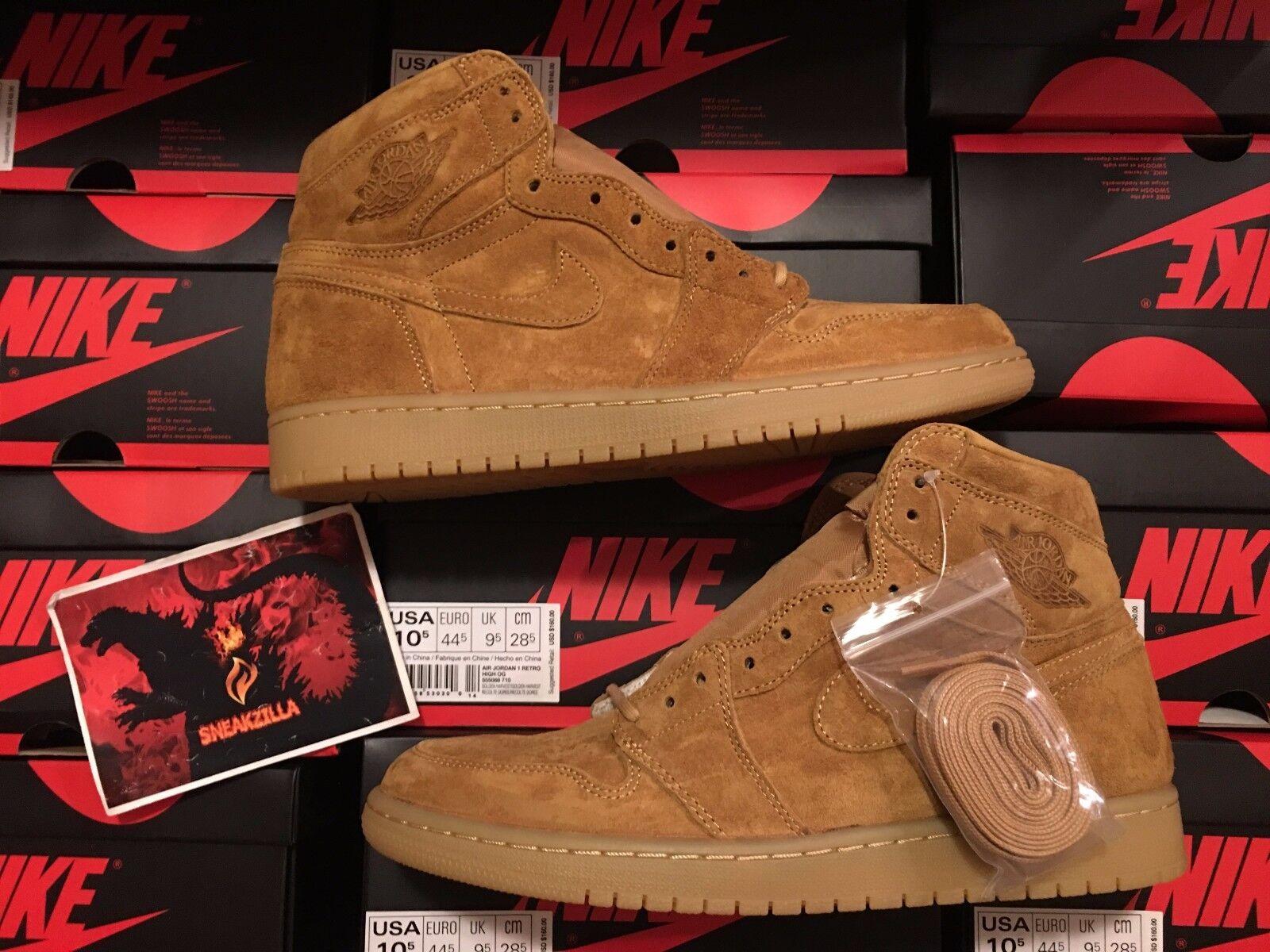 Nike Air Jordan Retro I 1 HIGH OG GOLDEN HARVEST Wheat Flax 555088-710 Sz 8-14
