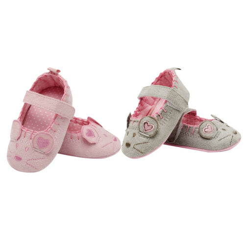 Newborn Girl Shoes Animal Princess Child Antislip Crib Hook & Loop Prewalkers
