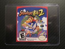 Snowboard kids 2 N64  Replacement Game Label Sticker Precut