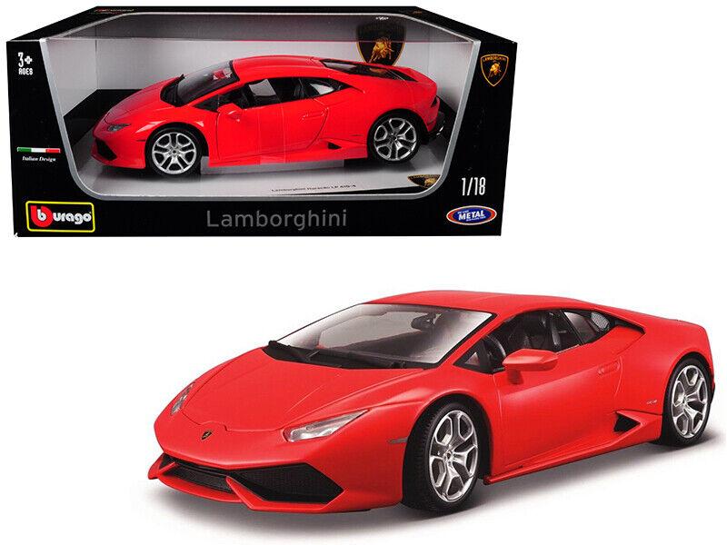 venta caliente Bburago 1 18 Lamborghini Huracan LP610-4 LP610-4 LP610-4 11038 Rojo Coche Modelo Diecast  para mayoristas