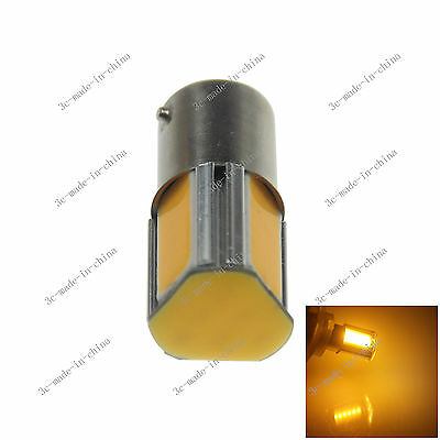 1X Yellow 1156 G18 Ba15s 4 COB LED Turn Signal Rear Light Car Bulb Lamp 12V D083