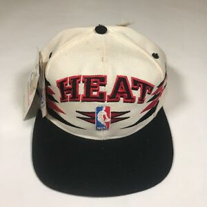 e11e755c572 Vintage Logo Athletic NBA Miami Heat Snapback HAT NWT Deadstock ...