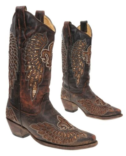 CORRAL Cowboy Boots 8.5 M Womens Angel Wing CUTOUT