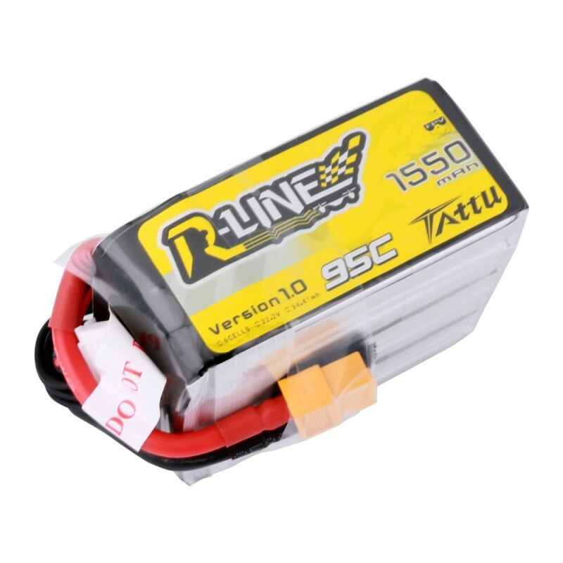 Tattu R-Line 1550mAh 95C 6S  22.2V Lipo Battery High Burst For FPV Racing Drone