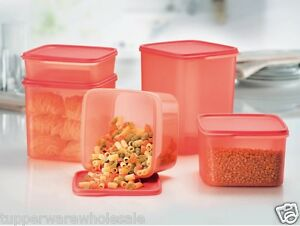 7db24ab3f Image is loading New-Tupperware-Smart-Saver-5pc-Square-Set