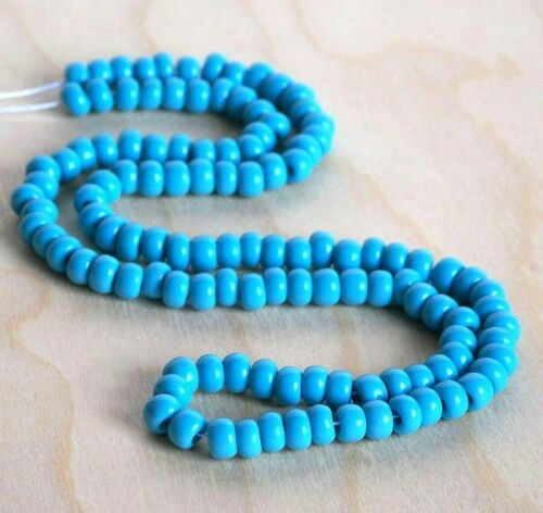 1//0 Turquoise Blue Czech Glass Seed Beads 100 Preciosa Large Hole Beads NEW!
