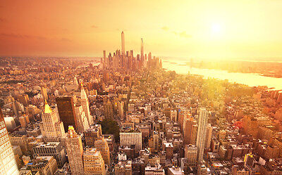 NEW YORK METRO NEW A4 POSTER GLOSS PRINT LAMINATED