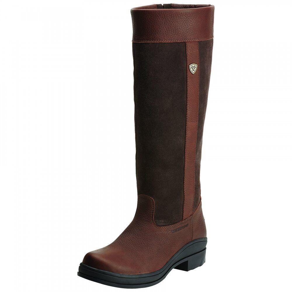 Ariat Boots Women's Windermere Waterproof Color Chocolate B-Medium Calf Size 8.5
