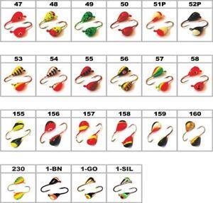 Diam:3-4-5-6 mm//Weight:0.46-3.0g 5 NEW #11-DROP UV eyelet Tungsten Ice Jig Set