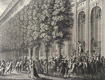 Camille Desmoulins au palais Royal 22 juillet 1789 Révolution Française  1804 | eBay
