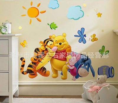 The Pooh Wall Decals Kids Bedroom & Baby Nursery Stickers Art Decor Room Winnie
