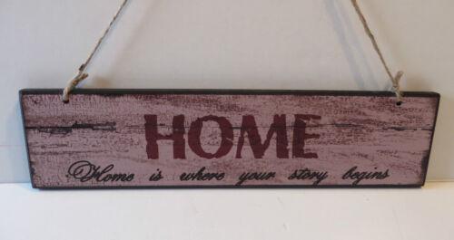 ANSEHEN # Deko HOLZSCHILD Türschild # HOME # Vintage Shabby # Wandschild Schild