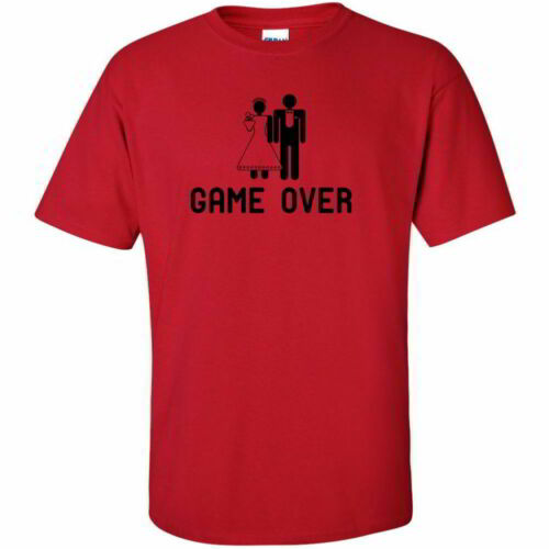 Game Over Funny Gamer Gift Tees Hilarious Mens Bachelor Party T Shirts