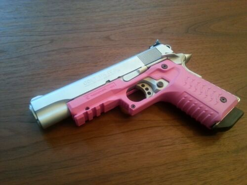 UPDATED VERSION Recover Tactical CC3 H Colt 1911 Grips Rail System PINK