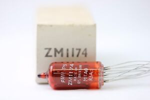 ZM1174 NIXIE TUBE . PHILIPS BRAND TUBE. NOS TUBE. RC168A
