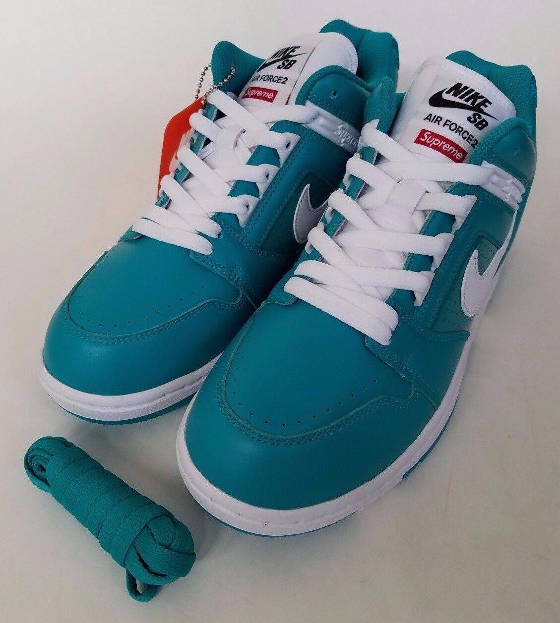 Nike x supremo sb ausiliari finanziari basso ds scorte vive nuove dimensioni 9 id aa0871-313 Uomo