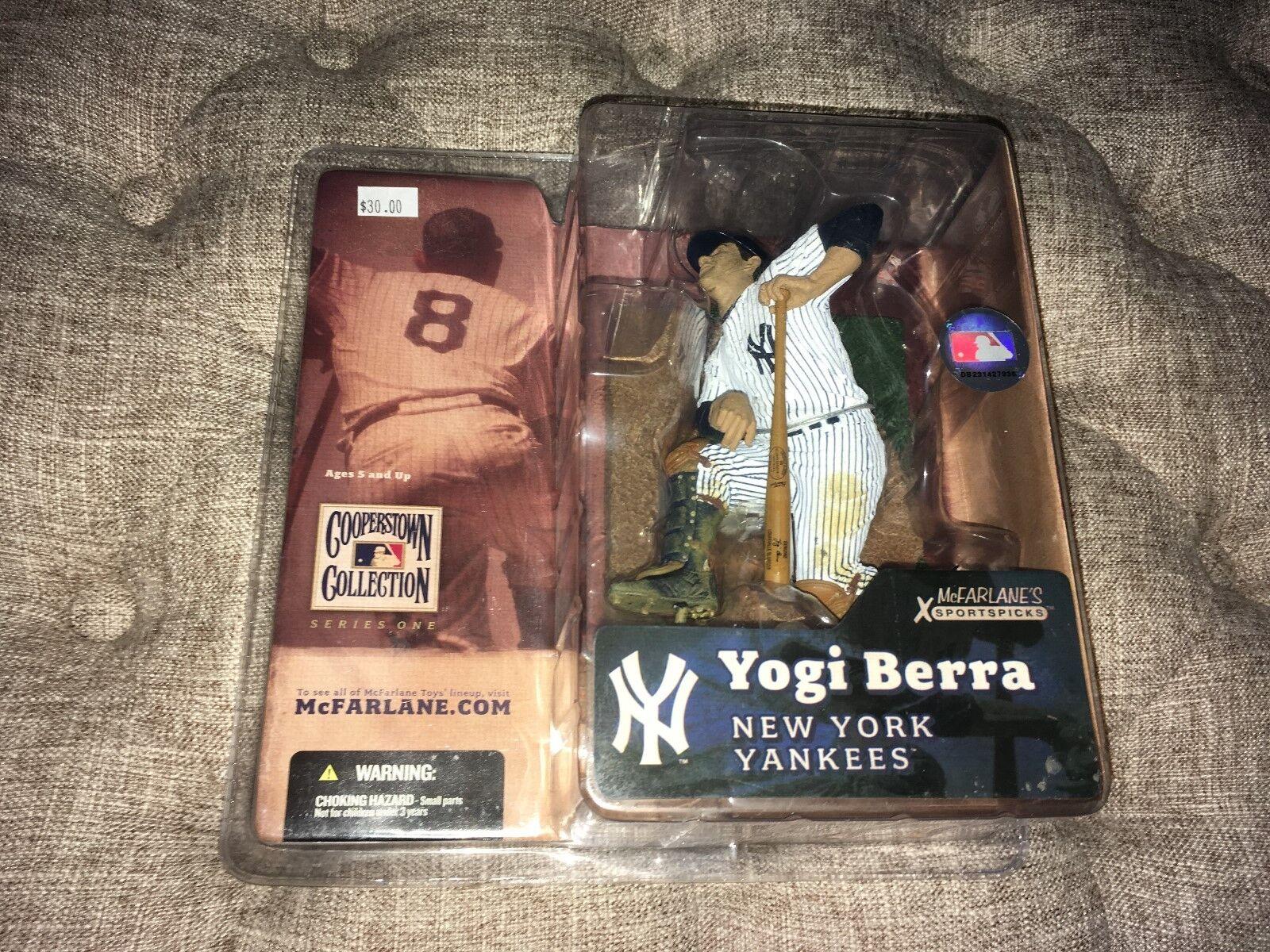 Yogi Berra New York Yankees Cooperstown Collection  McFarlane Toys Figure MIP