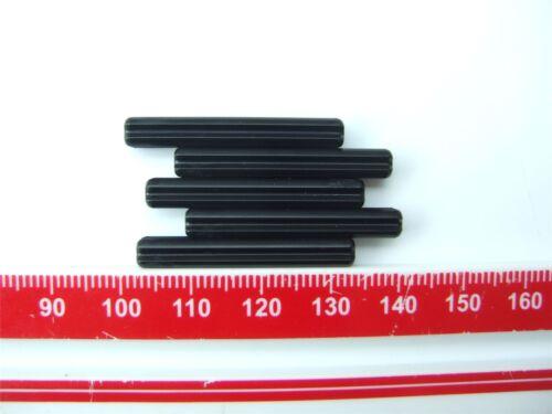 370526 5 x Lego Black CROSS AXLE 4M Parts /& Pieces