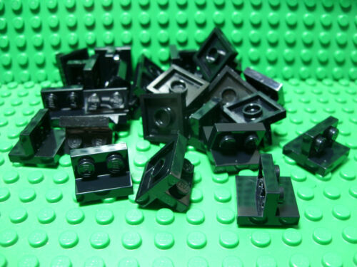 ** 25 CT LOT ** Lego NEW black  2x2//1x2 centered bracket pieces  Lot of 25