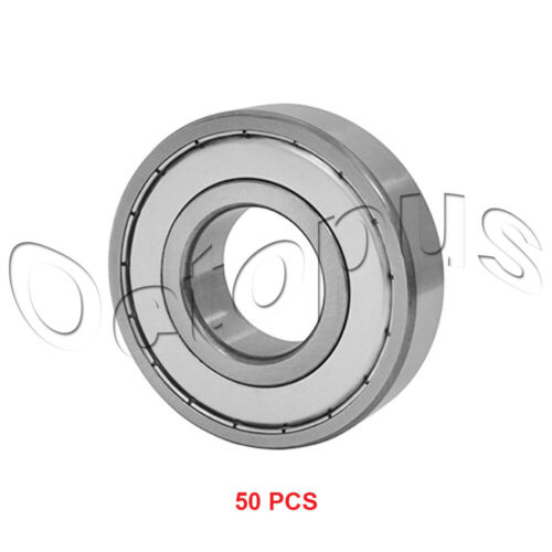 50 Pcs Premium 607ZZ ABEC1 Metal Shields Deep Groove Ball Bearing 7 x 19 x 6mm