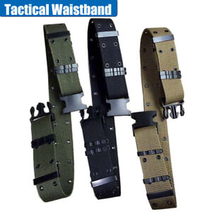 AU-ARMY-PISTOL-BELT-ALICE-WEB-WEBBING-COMBAT-MILITARY-TACTICAL-BLACK-GREEN-KHAKI