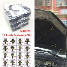 630Pcs 16 Kinds Car Door Bumper Panel Fender Retainer Push Rivets Fastener Clips