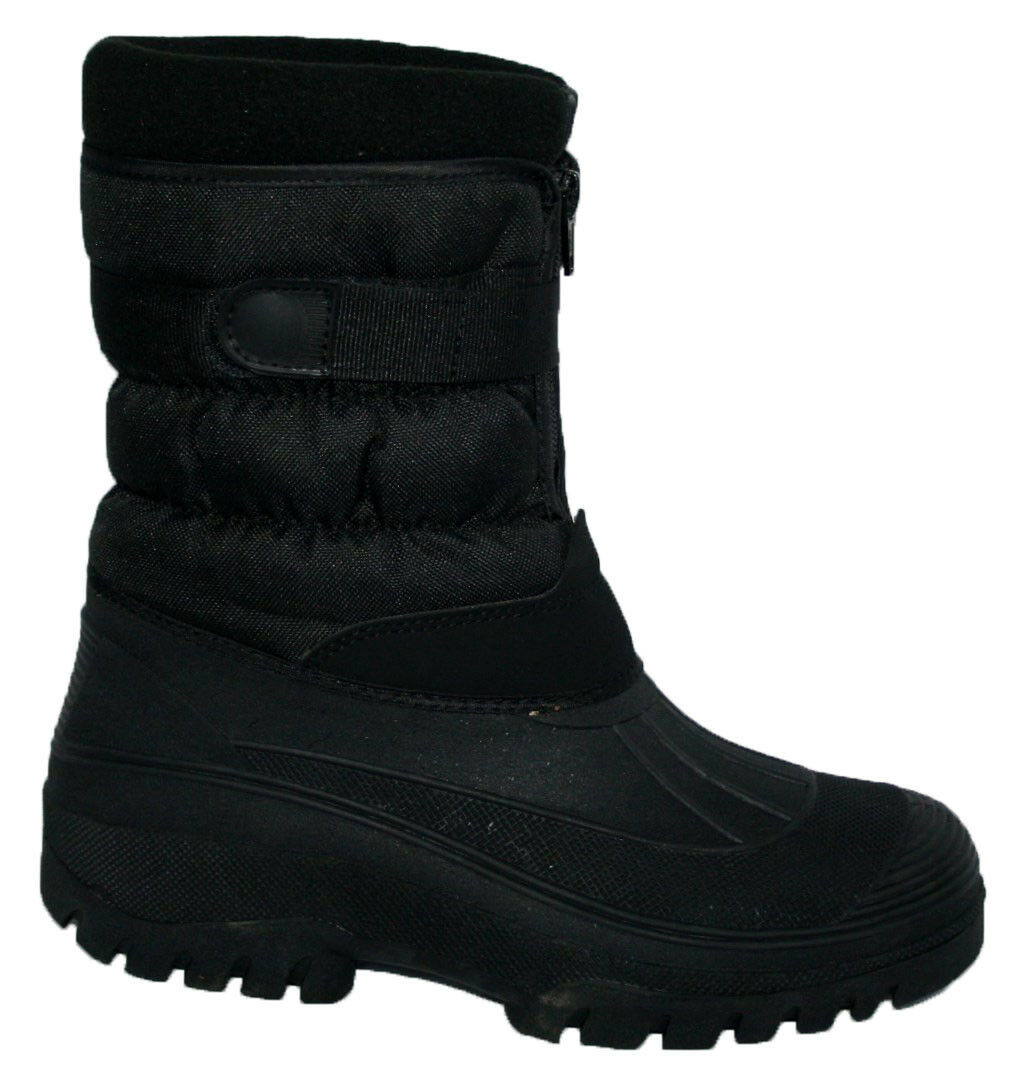 LADIES BLACK MUCKER BOOT WITH FRONT ZIP STRAP AND WARM LINING SIZES 4-8
