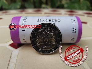 2-Euro-Commemorative-Lettonie-2019-Soleil-Levant-UNC-NEUVE