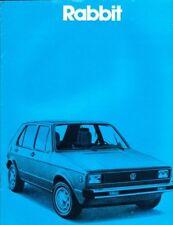 1980 80 VW Rabbit  original sales brochure