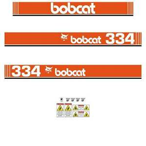 334-DECALS-334-Early-Type-Stickers-Bobcat-334-repro-Decals-Stickers-Kit