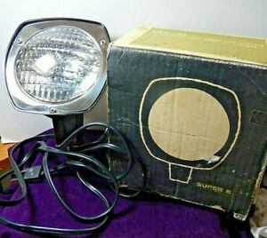 Super-8-Sealed-Beam-Movie-Light-Model-855-w-Box-Tested-and-working