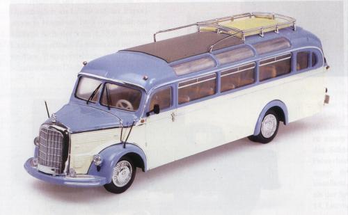 MERCEDES O 3500 BUS Blau BEIGE MINICHAMPS 1 43 NEW