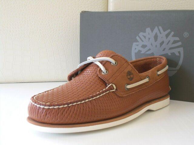 Timberland uomo Classic Boat 2 Eye Leather scarpe barca Pelle brown n.44.5 €170