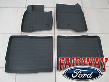 2017 Explorer OEM Genuine Ford Parts Tray Style Molded Black Floor Mat Set 4-pc