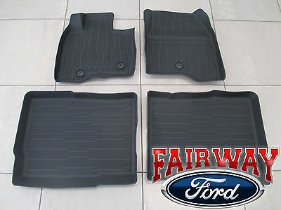 2019 Lincoln Nautilus OEM Ford Tray Style Molded Black Floor Mat Set 4-pc NEW