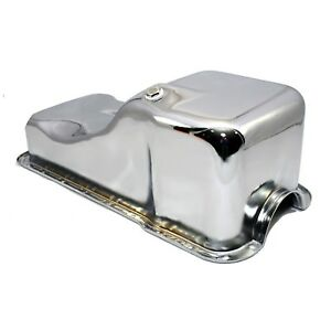 Front-Sump-Chrome-Steel-Oil-Pan-63-96-SBF-Small-Block-Ford-260-289-302-5-0