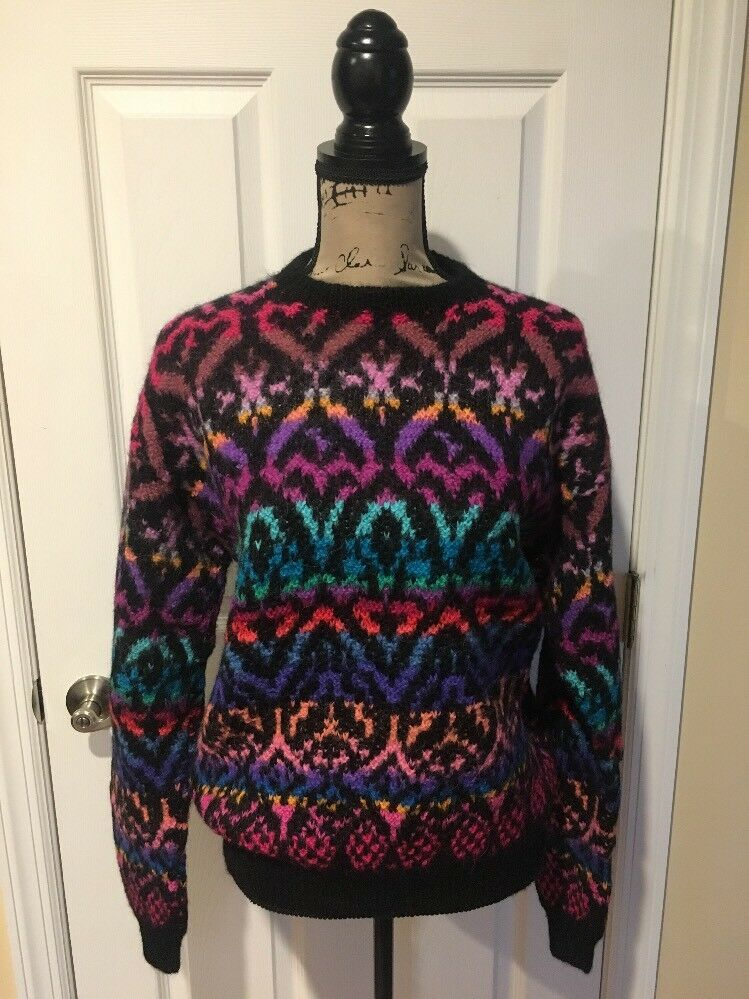 Peruvian Connection 100% Alpaca Women's Sweater Multi color Medium EUC