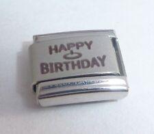 HAPPY BIRTHDAY Italian Charm - 9mm fits Classic Starter Bracelets - Cake N397